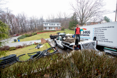 Exterior Landscape Grading and French Drain Installation from D-Bug Waterproofing