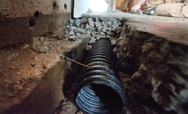 Installing French Drains In A Basement D Bug Waterproofing
