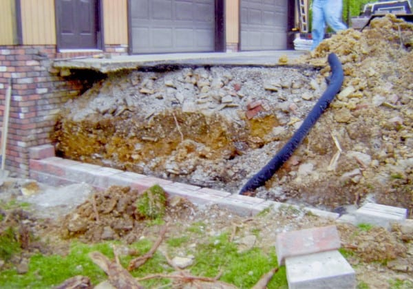 D-Bug Waterproofing digging at client site