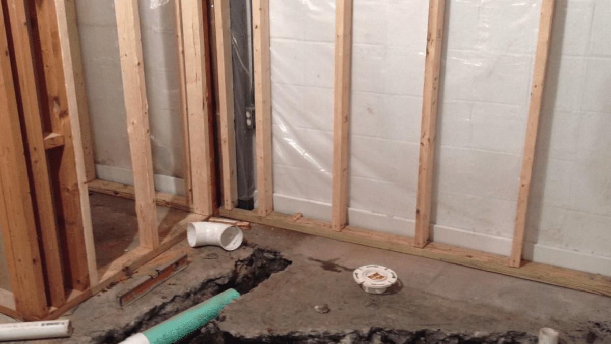 D-Bug Waterproofing jobsite work