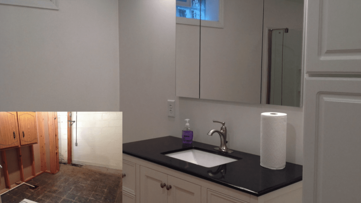 D-Bug Waterproofing basement finishing collage
