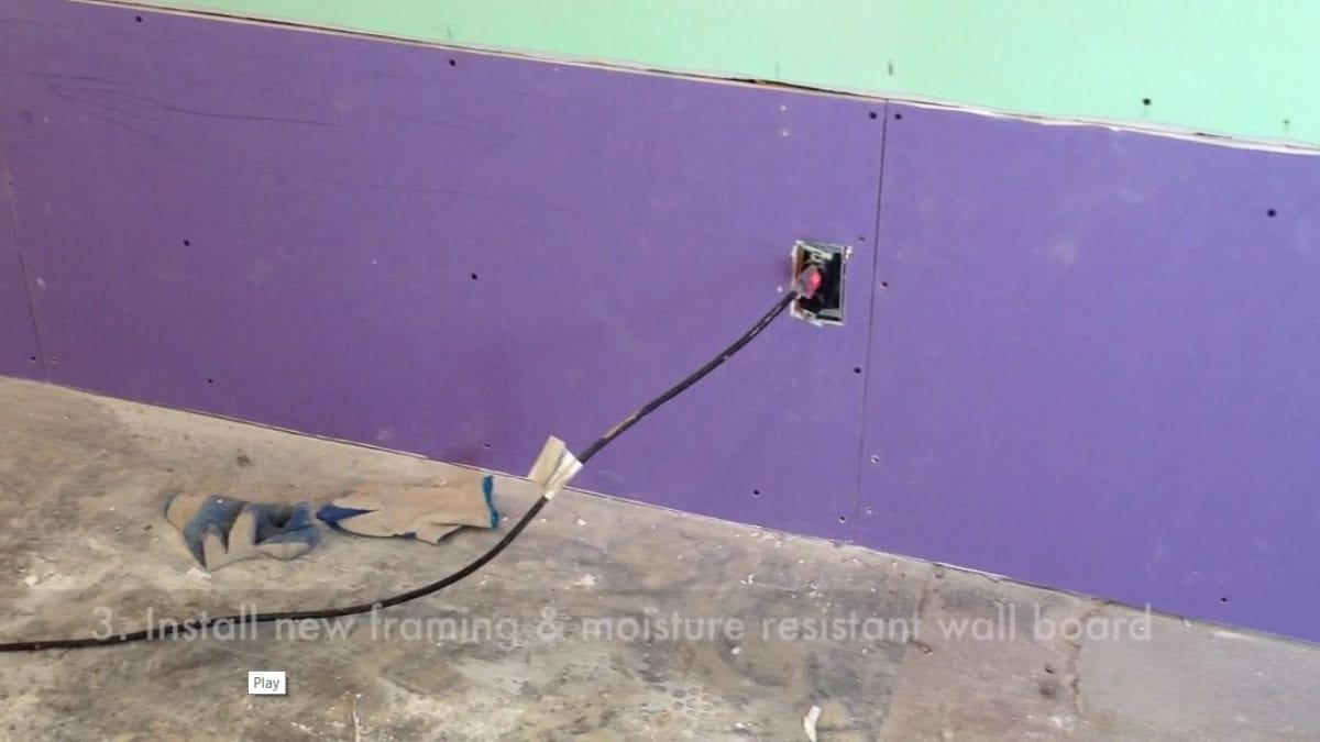 Moisture resistant wall board