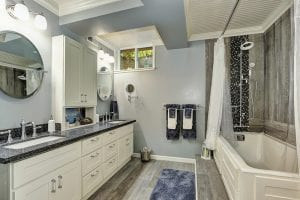 D-Bug Waterproofing can help you add a luxury bathroom to your basement.