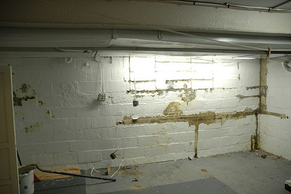 D-Bug Waterproofing basement waterproofing work in progress