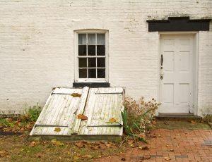 Aging Basement Doors