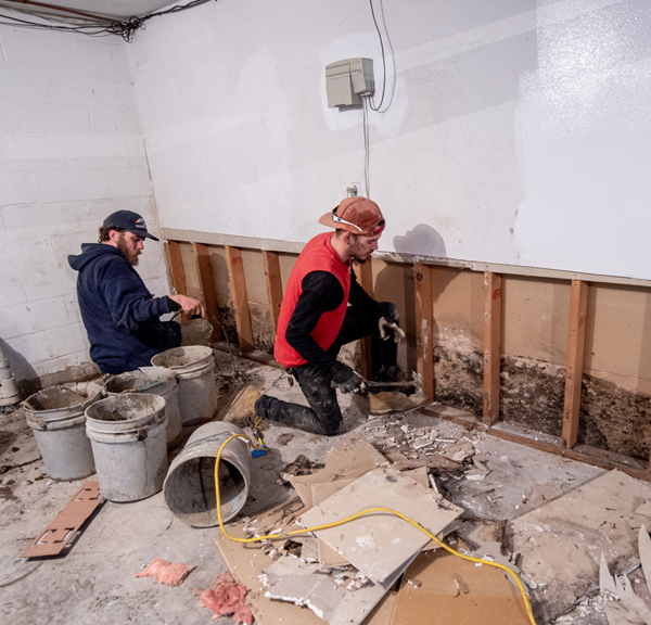 Basement Refinishing startw with Waterproofing and mold remediations