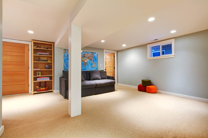 The right colors for basement painting