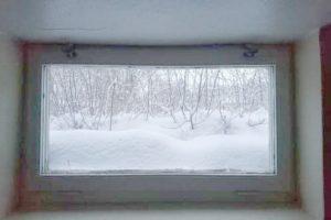 Basement Window in Winter